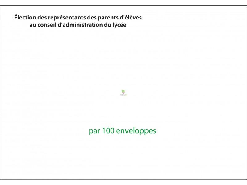 Enveloppes d'envoi du matériel de vote par correspondance pour l'élection au conseil d'administration du lycée