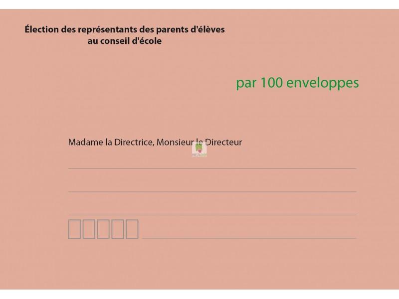 Enveloppes d'acheminement et d'identification élection conseil d'école recto verso