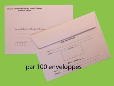 Enveloppes d'acheminement et d'identification pour l'élection au conseil d'école