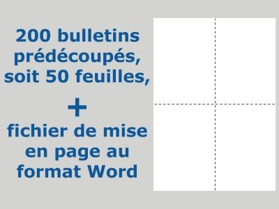 200 Bulletins de vote pour l'élection des parents d'élèves
