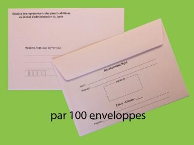 Enveloppes d'acheminement et d'identification pour l'élection au conseil d'administration du lycée