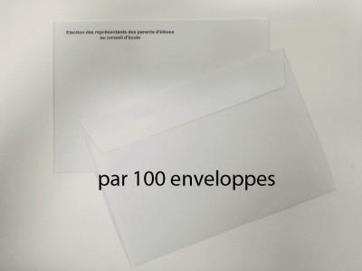Enveloppes d'envoi du matériel de vote par correspondance pour l'élection au conseil d'école recto verso