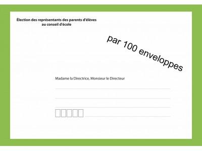 Enveloppes d'acheminement du vote par correspondance pour l'élection au conseil d'école