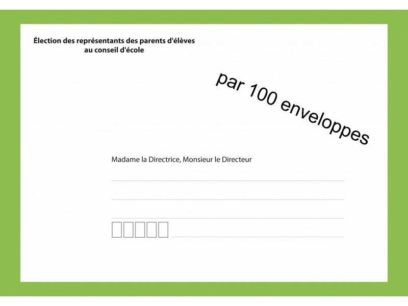 Enveloppes d'acheminement du vote par correspondance pour l'élection au conseil d'école recto verso