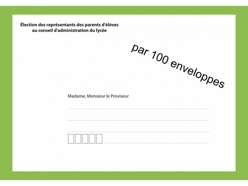 Enveloppes d'acheminement élection au conseil d'administration du lycée recto verso
